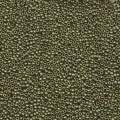 5 g 15/0 Seed Beads, Matte Metallic Olive Gold