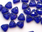 30 st Czechmates Triangles 6 mm, Cobalt