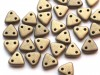 30 st Czechmates Triangles 6 mm, Metallic Suede - Gold
