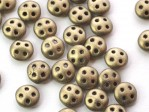 30 st Czechmates QuadraLentils, 6x2 mm, Metallic Suede - Gold