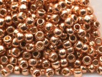10 g 8/0 TOHO Seedbeads, Permanent Finish . Galvanized Gold Rose
