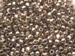 10 g 11/0 TOHO Seedbeads, Gold-Lined Black Diamond
