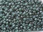 10 g 11/0 TOHO Seedbeads, Marbled Opaque Turquoise/Blue