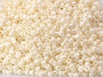 10 g 15/0 TOHO Seedbeads, Opaque-Lustered Navajo White