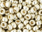 10 g 8/0 TOHO Seedbeads, Permanent Finish - Galvanized Aluminium