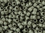 10 g 15/0 TOHO Seedbeads, Matte-Silver Frosted Antique Silver