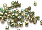 50 st Firepolished, 3 mm, Crystal Sunny Magic Summer Green