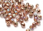 50 st Firepolished, 3 mm, Crystal Copper Rainbow