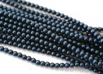 150 st 3 mm runda glaspärlor i pärlemor, Matte Egyptian Blue Sat