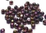 50 st 4 mm Firepolished, Jet Purple Iris