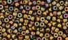 5 g Matubo Seedbeads 8/0, Matte - Metallic Gold Copper Iris