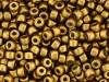 5 g Matubo Seedbeads 8/0, Matte Metallic Anique Gold